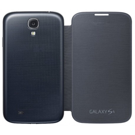 Do Samsung Galaxy S4, etui Flip Cover- CZARNE