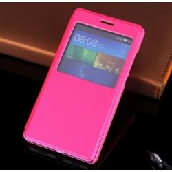 Huawei P8 Lite etui Flip Cover View case- CIEMNY RÓŻ