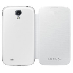 Do Samsung Galaxy S4, etui Flip Cover- BIAŁE