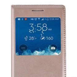 Huawei P10 Lite Etui Flip Cover Window View Złote