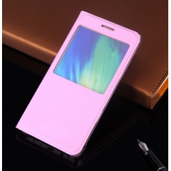 Huawei P10 Lite Etui Flip Cover Window View Różowe