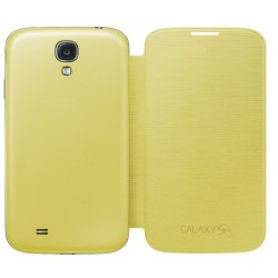 Do Samsung Galaxy S4, etui Flip Cover- ŻÓŁTE