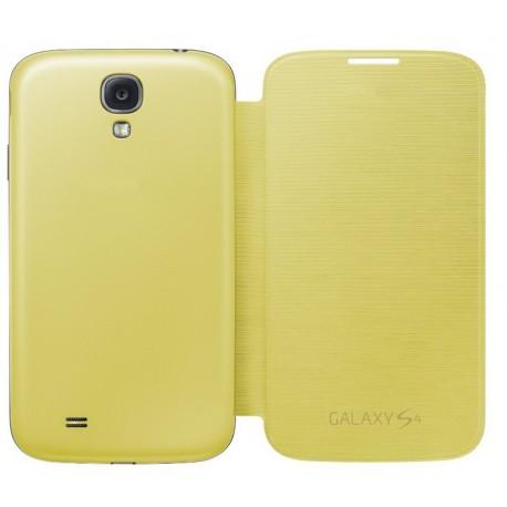 Do Samsung Galaxy S4, etui Flip Cover- ŻÓŁTE