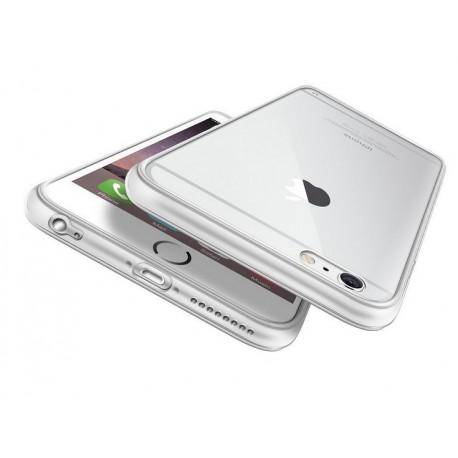 iPhone 6, 6S, etui silikonowe 0,3mm + Folia na ekran- Transparentne
