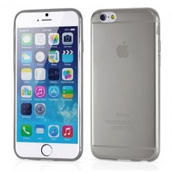 iPhone 6, 6S, etui silikonowe 0,3mm + Folia na ekran- GRAFITOWE