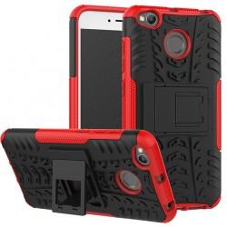 Etui Xiaomi Redmi 4X Pancerne Armor Case Guma- CZERWONE