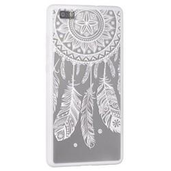 Etui Huawei P10 Lite silikonowe KORONKA - Lace 1 białe