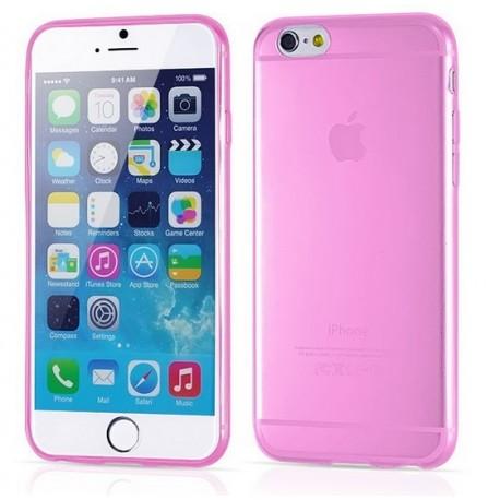 iPhone 6, 6S, etui silikonowe 0,3mm + Folia na ekran- RÓŻOWE