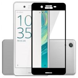 Sony Xperia XA Szkło Hartowane PEŁNE na Cały ekran - CZARNE