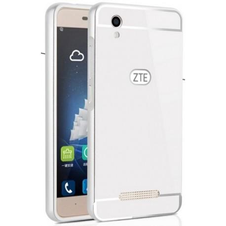 ZTE Blade A452- etui Aluminiowe Bumper Case- SREBRNE