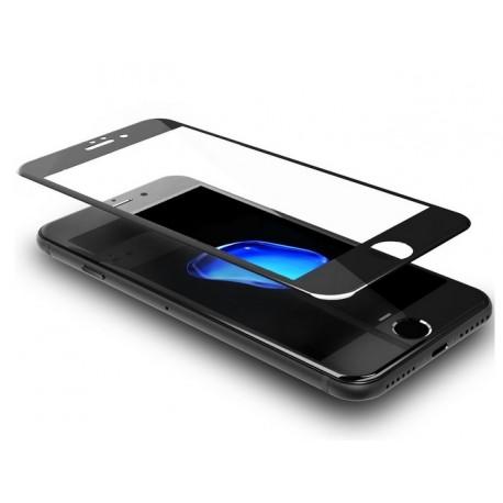 iPhone 8 szkło hartowane 3D na cały ekran - CZARNE