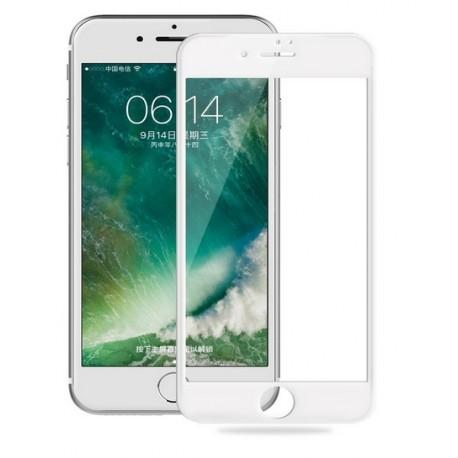 iPhone 8 szkło hartowane 3D na cały ekran - BIAŁE