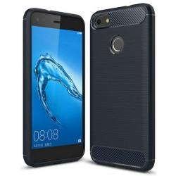 Etui Huawei P9 Lite Mini Karbon ARMOR Case Guma- Granatowe