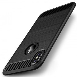 iPhone X etui  Pncerne Karbon ARMOR Case Guma- Czarne
