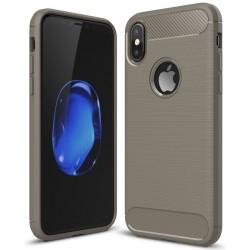 iPhone X etui  Pncerne Karbon ARMOR Case Guma- Grafitowe