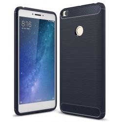 Xiaomi Mi Max 2 etui  Pncerne Karbon ARMOR Case Guma- Granatowe