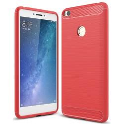 Xiaomi Mi Max 2 etui  Pncerne Karbon ARMOR Case Guma- Czerwone
