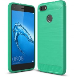 Etui Huawei P9 Lite Mini Karbon ARMOR Case Guma- Miętowe