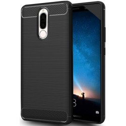 Huawei Mate 10 Lite etui  Pancerne Karbon ARMOR Case Guma- Czarne