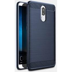 Huawei Mate 10 Lite etui  Pancerne Karbon ARMOR Case Guma- Granatowe
