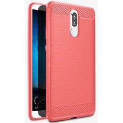 Huawei Mate 10 Lite etui  Pancerne Karbon ARMOR Case Guma- Czerwone