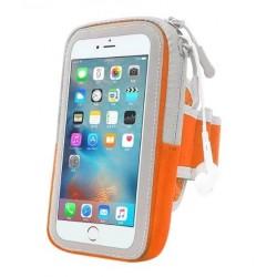 """Duża opaska na ramię etui ARMBAND do biegania 5,5"""" iPhone 6 6S Plus i inne - POMARAŃCZOWA"""