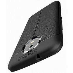 Motorola Moto G5s etui  Pancerne KARBON Case SKÓRA- Czarne