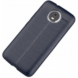 Motorola Moto G5s etui  Pancerne KARBON Case SKÓRA- Granatowe