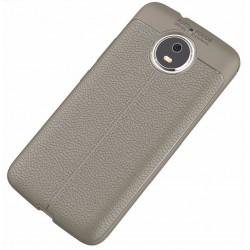 Motorola Moto G5s etui  Pancerne KARBON Case SKÓRA- Grafitowe