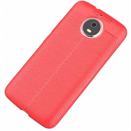 Motorola Moto G5s etui  Pancerne KARBON Case SKÓRA- Czerwone