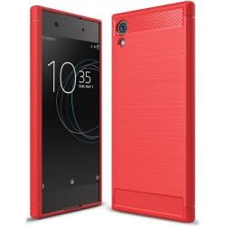 Sony Xperia XA1 PLUS etui  Pancerne Karbon ARMOR Case- Czerwone