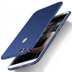 Huawei Honor 7X etui  Silky Touch case na telefon - Niebieskie