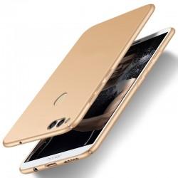 Huawei Honor 7X etui  Silky Touch case na telefon - Złote