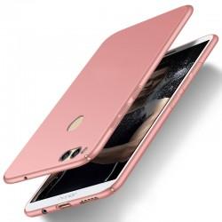 Huawei Honor 7X etui  Silky Touch case na telefon - Różowe