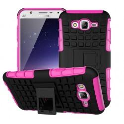Samsung Galaxy J5, Pancerne etui ARMOR CASE dwuczęściowe- RÓŻOWE
