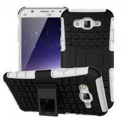 Samsung Galaxy J5, Pancerne etui ARMOR CASE dwuczęściowe- BIAŁE