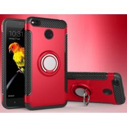 Xiaomi Redmi 4X etui  magnetyczne RING HOLDER Czerwone