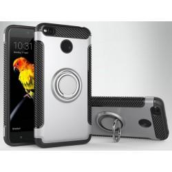 Xiaomi Redmi 4X etui  magnetyczne RING HOLDER Srebrne
