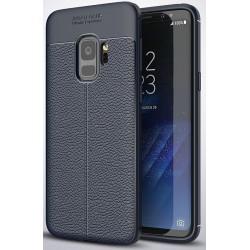 Samsung Galaxy S9 etui  Pancerne KARBON Case SKÓRA- Granatowe