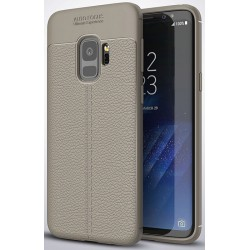 Samsung Galaxy S9 etui  Pancerne KARBON Case SKÓRA- Grafitowe