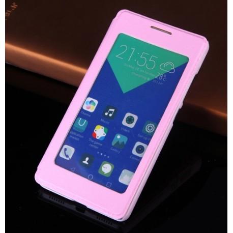 Huawei Honor 7 etui Flip Cover S-View- JASNY RÓŻ
