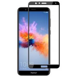 Huawei Honor 7X Szkło Hartowane PEŁNE 3D Hybryda - CZARNE