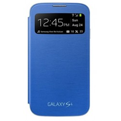 Do Samsung Galaxy S4 etui Flip Cover S-View- NIEBIESKIE