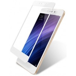 Xiaomi Redmi 5A Szkło Hartowane PEŁNE 3D Hybryda - BIAŁE