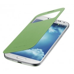 Do Samsung Galaxy S4 etui Flip Cover S-View- ZIELONE