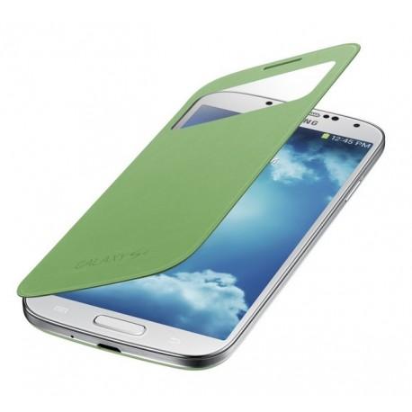 Do Samsung Galaxy S4 etui Flip Cover S-View- ZIELONE