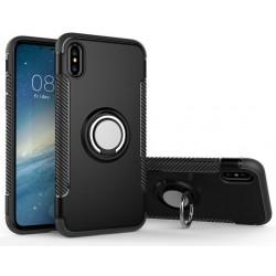 iPhone X etui magnetyczne RING HOLDER case Czarne
