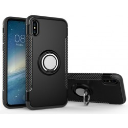 iPhone X / Xs etui magnetyczne RING HOLDER case Czarne