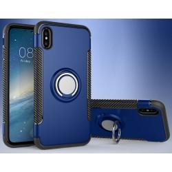 iPhone X etui magnetyczne RING HOLDER case Granatowe