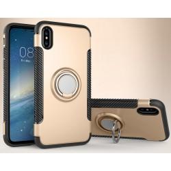 iPhone X etui magnetyczne RING HOLDER case Złote
